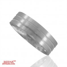 18Kt White Gold Designer Wedding Band