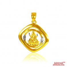 22 kt Gold Laxmi Pendant ( Ganesh, Laxmi and other God Pendants )