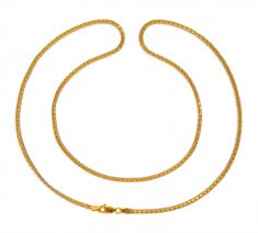 22Kt Gold Box Chain (24 In) ( Plain Gold Chains )