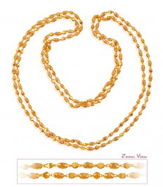 22k Double Layered White Tulsi Mala ( 22Kt Long Chains (Ladies) )