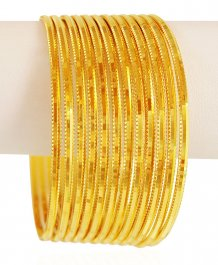 Gold Machine Bangles Set (4PC) ( Set of Bangles )