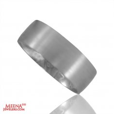 18 Kt White Gold Wedding Band