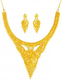 22 Kt Gold Necklace Set