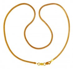 22kt Gold Flat Chain( 16 Inches) ( Plain Gold Chains )