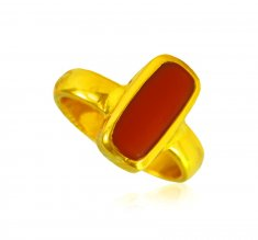 22Kt Gold Gem Stone Ring ( Ladies Rings with Precious Stones )