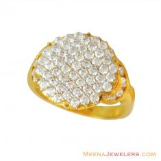 22k Star Signity Stones Ring