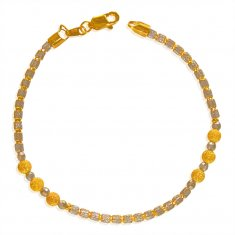 22Kt Gold Rhodium Bracelet ( Ladies Bracelets )