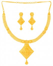 22Karat Gold Necklace Earring Set