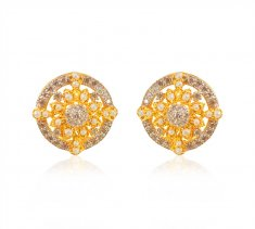 22K Gold Pearl Earrings ( Precious Stone Earrings )