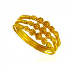 22 Karat Gold Spiral Ring ( Ladies Gold Ring )