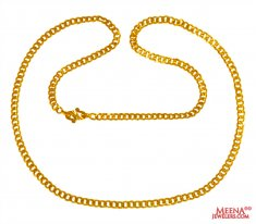 22 Kt Gold Mens Chain 22 Inchs