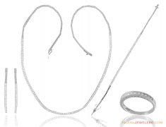 18k Gold Exclusive Fancy Set(Full) ( White Gold Sets )