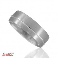 18K White Gold Band ( Wedding Bands )