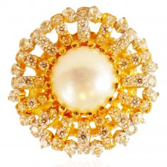 22 Karat Gold Pearl Ring ( Ladies Signity Rings )