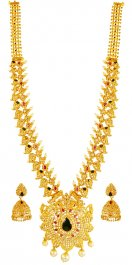 22k Uncut Diamond 5 in One Set ( Diamond Necklace Sets )