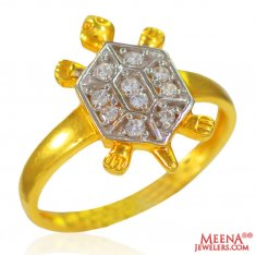 22k Gold Turtle Ladies Ring