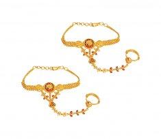 22k Gold Kids Bracelet Multi Tone 22kt Baby Bracelets