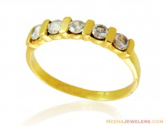 22kt Gold Ring with Signity Stones