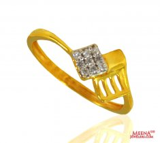22K Gold Signity Ring