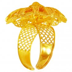 Adjustable 22 Karat Gold Ring  ( Ladies Gold Ring )