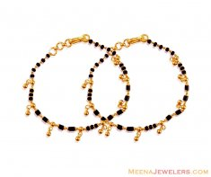 22K Kids Maniya (2PC) ( Black Bead Bracelets )
