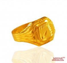22Kt Yellow Gold Mens Ring