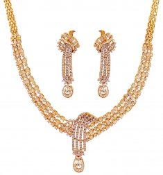18K Beautiful Diamond Necklace Set