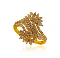 22 Kt Gold Designer Signity Ring ( Ladies Signity Rings )