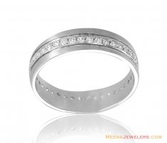 18Kt White Gold Fancy Wedding Band