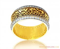 18k Antique Finish Band