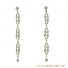 White Exquisite Stones Earrings ( Exquisite Earrings )
