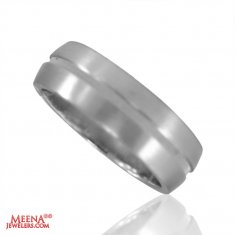 18 Karat White Gold Band