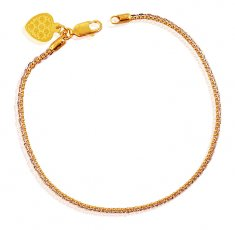 Fancy 22k Two Tone Bracelet ( Ladies Bracelets )