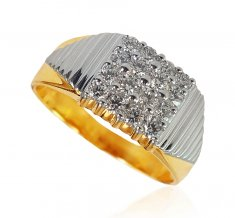 18KT Gold Diamond Ring for Men ( Diamond Rings )