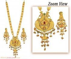 22K Gold Indian Patta Set ( Bridal Necklace Sets )