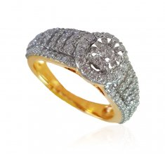 18k Gold Diamond Ladies Ring ( Diamond Rings )