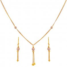 Two Tone 22K Necklace Set