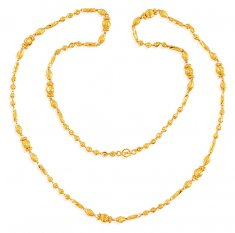22k Fancy Long Ladies Chain 24 in  ( 22Kt Long Chains (Ladies) )