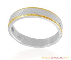 18Kt White Gold Band Ring ( Ladies White Gold Rings )