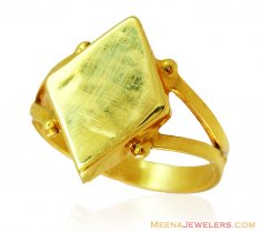 Plain Gold Mens Ring (22K) ( Mens Gold Ring )