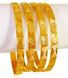 22kt Gold Bangles Set (Set of 4) ( Set of Bangles )