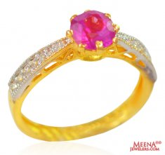 22K Gold Ladies Ring