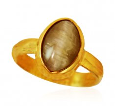 22kt Gold Cats Eye Ring ( Astrological BirthStone Rings )