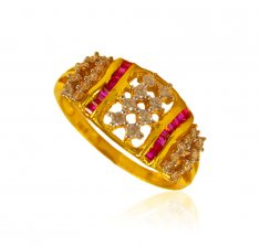 22kt Gold CZ ladies Ring ( Ladies Signity Rings )