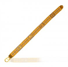 22K Gold Two Tone Swastika Bracelet
