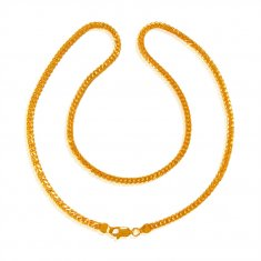 22kt Gold Chain 18 Inches ( Plain Gold Chains )