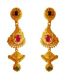 22k Gold Long Earrings ( Long Earrings )