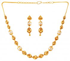 22Kt Gold Balls Necklace Set