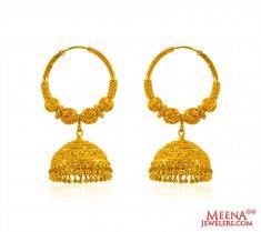 Gold Hoop Earrings 22 Karat Indian Balis Finest
