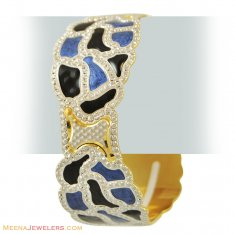 22k Exclusive Rhodium Bangle(1 Pc) ( Two Tone Bangles )